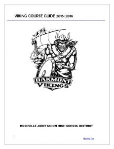 VIKING COURSE GUIDE
