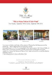Villa La Massa Fashion & Style Week