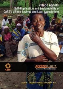 Village Agents: Self-Replication and Sustainability of CARE s Village Savings and Loan Associations