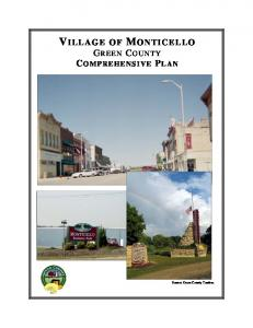 VILLAGE OF MONTICELLO GREEN COUNTY COMPREHENSIVE PLAN