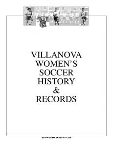 VILLANOVA WOMEN S SOCCER HISTORY & RECORDS