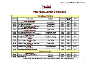 VINE RESTAURANT & WINE BAR