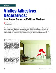 Vinilos Adhesivos Decorativos: