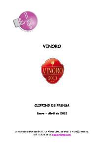 VINORO CLIPPING DE PRENSA. Enero Abril de 2012