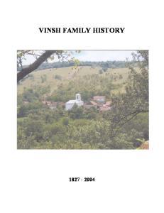 VINSH FAMILY HISTORY