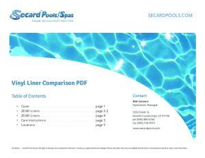Vinyl Liner Comparison PDF
