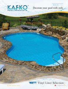 Vinyl Liner Selection. Decorate your pool with style