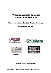 Violaciones de los Derechos Humanos en Honduras