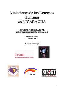 Violaciones de los Derechos Humanos en NICARAGUA