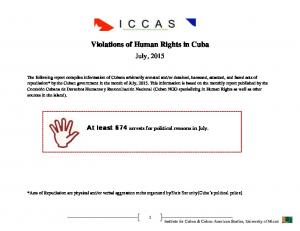 Violations of Human Rights in Cuba