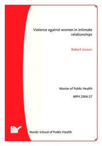 Violence against women in intimate relationships