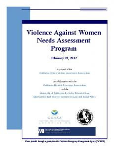 Violence Against Women Needs Assessment Program