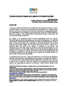 Violencia contra las mujeres en el gobierno de Michelle Bachelet