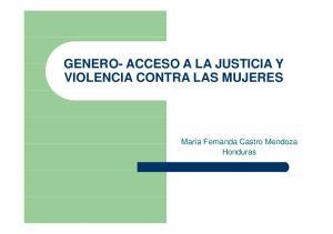 VIOLENCIA CONTRA LAS MUJERES. Honduras
