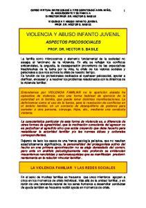 VIOLENCIA Y ABUSO INFANTO JUVENIL