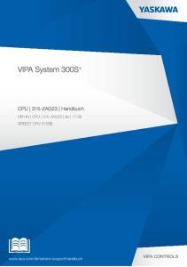 VIPA System 300S + CPU 315-2AG23 Handbuch. HB140 CPU 315-2AG23 de SPEED7 CPU 315SB
