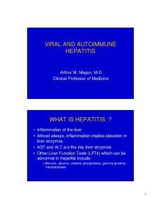 VIRAL AND AUTOIMMUNE HEPATITIS WHAT IS HEPATITIS?
