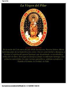 Virgen del Pilar. La Virgen del Pilar