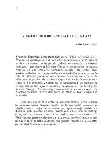 VIRGILIO, HOMBRE Y POETA DEL SIGLO XX*
