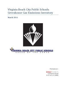 Virginia Beach City Public Schools Greenhouse Gas Emissions Inventory