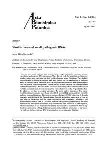 Viroids: unusual small pathogenic RNAs