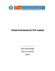 Virtual Environment for IPv6 Analysis
