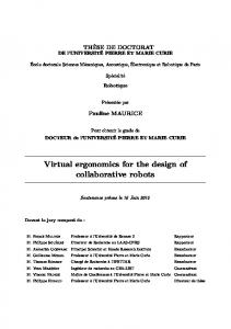 Virtual ergonomics for the design of collaborative robots