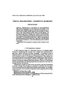 VIRTUAL ORGANIZATIONS CONCEPTUAL MODELLING