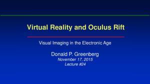 Virtual Reality and Oculus Rift