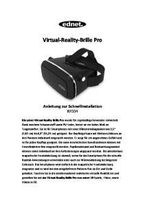 Virtual-Reality-Brille Pro