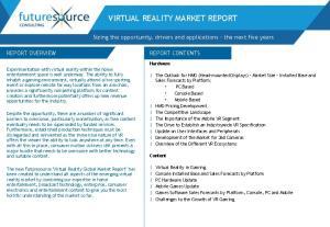 VIRTUAL REALITY MARKET REPORT