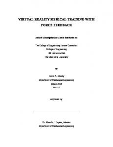VIRTUAL REALITY MEDICAL TRAINING WITH FORCE FEEDBACK