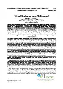Virtual Realization using 3D Password