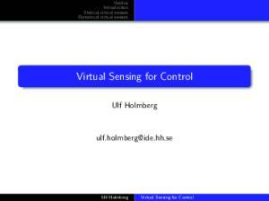 Virtual Sensing for Control