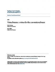 Virtual teams: a virtue for the conventional team