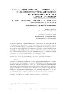 VIRTUALIDAD E HIPERTEXTO CONSTRUCTIVO EN DOS VISIONES LITERARIAS DEL MUSEO DEL PRADO: MANUEL MUJICA LAINEZ Y JAVIER SIERRA