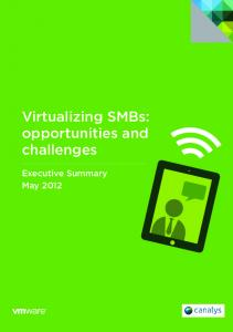 Virtualizing SMBs: opportunities and challenges