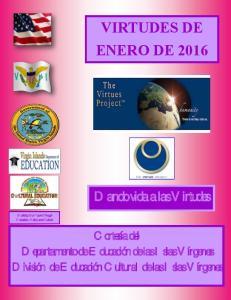 VIRTUDES DE ENERO DE 2016