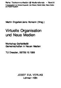 Virtuelle Organisation und Neue Medien