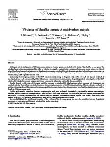 Virulence of Bacillus cereus: A multivariate analysis