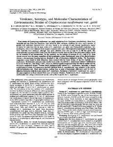 Virulence, Serotype, and Molecular Characteristics of Environmental Strains of Cryptococcus neoformans var. gattii