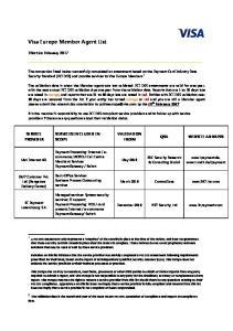 Visa Europe Member Agent List