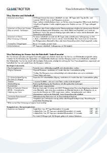 Visa-Information Philippinen