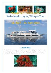 Visayas Tour. 08. April 23. April 2017
