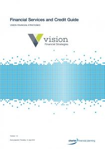 VISION FINANCIAL STRATEGIES