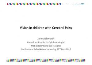 Vision in children with Cerebral Palsy