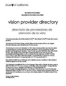vision provider directory