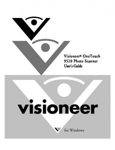 Visioneer OneTouch 9520 Photo Scanner User's Guide