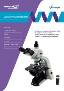 VisiScope microscopes