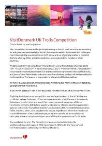 VisitDenmark UK Trolls Competition
